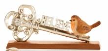 Bird on Key Figurine Believe