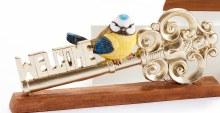 Bird on Key Figurine Welcome