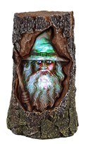 Wizard in Tree Trunk LED