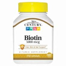 21 Century Biotin 5000mcg 110c