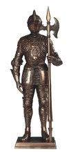 Bronze Medieval Knight w/ Axe