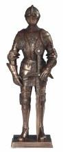 Bronze Medieval Knight w/Sword