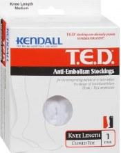 Anti-em knee white med