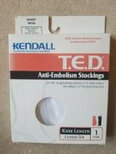 Anti-em knee white med xl
