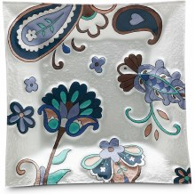 Paisley square fused plate