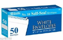 Bazic #10 Self Seal Env 50