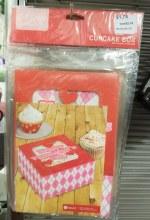 VALENTINES CUPCAKE BOX -1PK