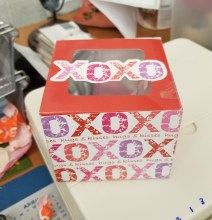 Valentine Cupcake Box 3pk
