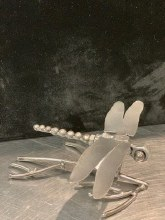 Metal Landing Dragonfly