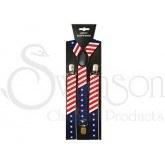 American Flag Suspenders