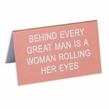 Desk Sign - Rolling Her Eyes