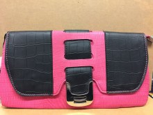 Pink Blocked Clutch