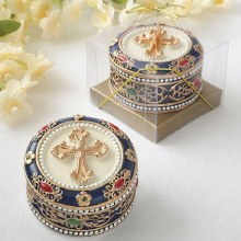 Ornate Trinket Box with Gold A