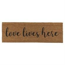Love Lives Here Door Mat