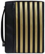 Gold Stripe Bible Cover Med