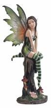 Fairy On Tree Stump Green