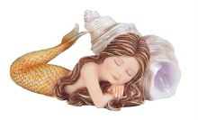 Baby Mermaid with Shell Peach