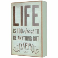Life is Happy Table Block