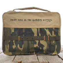 Camoflage Bible Cover Lg