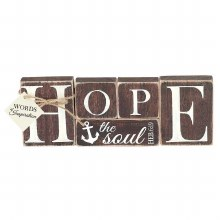 "HOPE Wood Block 10"""