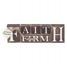 """FAITH Wood Block 10"""""""