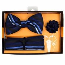 Men's Bow Tie/Hanky/Lapel Navy