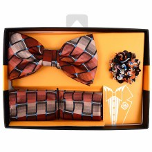 Men's Bow Tie/Hanky/Lapel Red