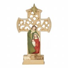 Cross with Holy Family - 6 1/2