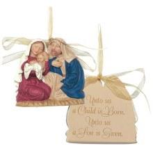 ORN RESIN 3 HOLY FAMILY