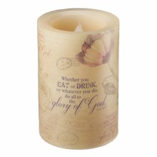 Floral Wax Piliar Candle Small