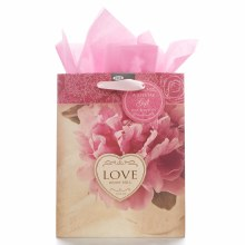 Love Never Fails Gift Bag Med