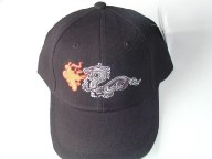 Dragon with fire Embroidered B
