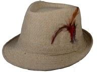 Beige Tweed Fedora Gangster