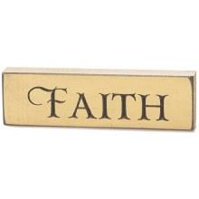 Faith Butterscotch Wood Sign