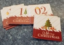 Days to Christmas pocket cards