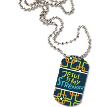 DOG TAG NECKLACE - JESUS IS