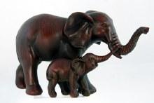 "Elephant w/ Calf 8.5"""
