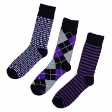 Men's Casual Socks Stripe 3pk