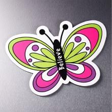 """Butterfly """"Believe"""" Magnet"""