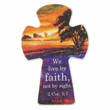Cross Mag Sm Wd Live Faith 2 C