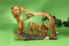 Wood-like Tiger Sculpture