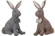 Fabric Bunny w/ Bow Tie each