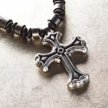 Cross Beaded Pendant Necklace