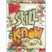 BE STILL & KNOW PLAQUE