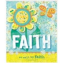 We Walk By Faith Plaque