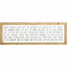 THE LORDS PRAYER WALL PLAQUE