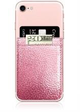 Rose Gold Leather Phone Pocket