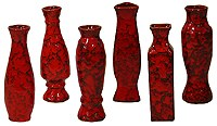 Red moroccan vase