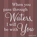 """Pass Through Waters"" Coaster"