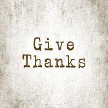 """Give Thanks"" Square House Coa"